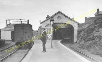 Banff Railway Station Photo. Ladysbridge and Tillynaught Line. GNSR. (8)