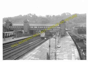 Bangor Railway Station Photo. Conway - Carnarvon. L&NWR. (11)