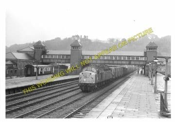 Bangor Railway Station Photo. Conway - Carnarvon. L&NWR. (12)