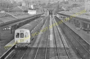 Bangor Railway Station Photo. Conway - Carnarvon. L&NWR. (15)
