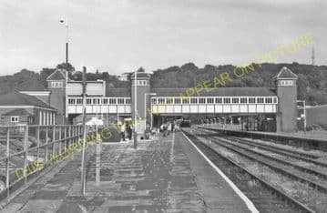 Bangor Railway Station Photo. Conway - Carnarvon. L&NWR. (17)
