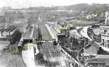 Bangor Railway Station Photo. Conway - Carnarvon. L&NWR. (2)