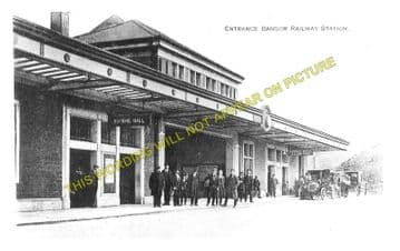 Bangor Railway Station Photo. Conway - Carnarvon. L&NWR. (7)