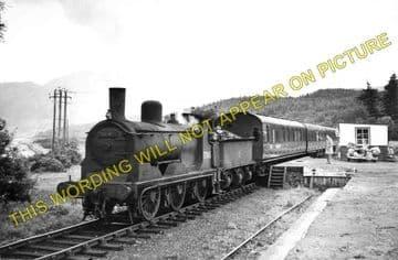Barcaldine Railway Station Photo. Benderloch - Creagan. Appin Line. (1)..