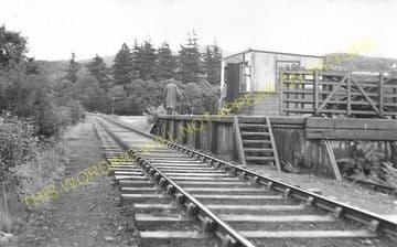 Barcaldine Railway Station Photo. Benderloch - Creagan. Appin Line. (3)