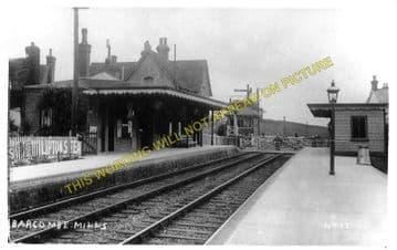 Barcombe Mills Railway Station Photo. Lewes - Isfield. Uckfield Line. LBSCR (1)
