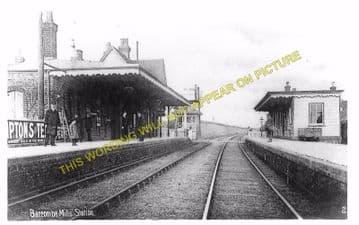 Barcombe Mills Railway Station Photo. Lewes - Isfield. Uckfield Line. LBSCR (11)