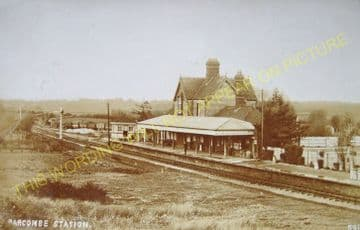 Barcombe Railway Station Photo. Newick & Chailey to Lewes. LB&SCR. (15)
