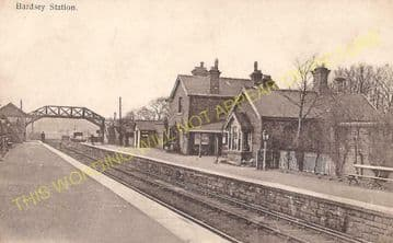 Bardsey Railway Station Photo. Wetherby - Thorner. Cross Gates Line. (3)