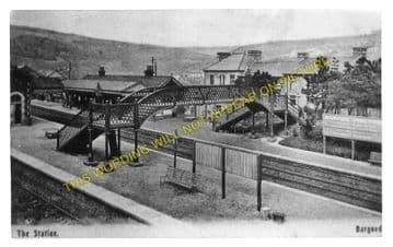Bargoed Railway Station Photo. Pengham - Brithdir. Hengoed to Tredegar Line (2)