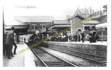 Bargoed Railway Station Photo. Pengham - Brithdir. Hengoed to Tredegar Line (3)