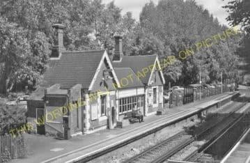 Barming Railway Station Photo. Maidstone - Malling. Sevenoaks Line. SE&CR. (6)