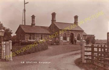 Barnack Railway Station Photo. Stamford - Ufford Bridge. Wansford Line. GNR (4)