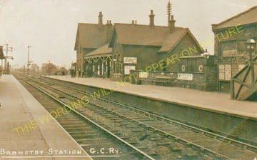 Barnetby Railway Station Photo. Brocklesby to Elsham, Brigg and Howsham. (13)