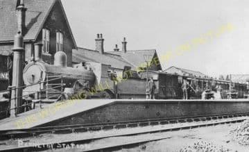 Barnetby Railway Station Photo. Brocklesby to Elsham, Brigg and Howsham. (14)