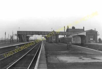 Barnetby Railway Station Photo. Brocklesby to Elsham, Brigg and Howsham. (15)