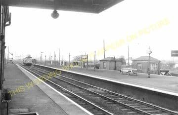 Barnetby Railway Station Photo. Brocklesby to Elsham, Brigg and Howsham. (18)