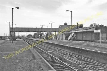 Barnetby Railway Station Photo. Brocklesby to Elsham, Brigg and Howsham. (21)
