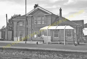 Barnetby Railway Station Photo. Brocklesby to Elsham, Brigg and Howsham. (22)