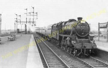 Barnetby Railway Station Photo. Brocklesby to Elsham, Brigg and Howsham. (23)