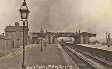 Barnetby Railway Station Photo. Brocklesby to Elsham, Brigg and Howsham. (25)