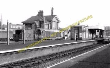 Barnetby Railway Station Photo. Brocklesby to Elsham, Brigg and Howsham. (3)