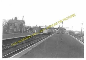 Barnetby Railway Station Photo. Brocklesby to Elsham, Brigg and Howsham. (8)