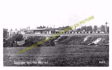 Barnham Railway Station Photo. Ford to Drayton and Bognor Lines. LB&SCR. (10)
