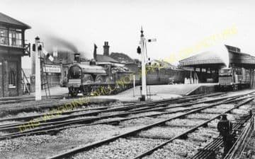 Barnham Railway Station Photo. Ford to Drayton and Bognor Lines. LB&SCR. (12)