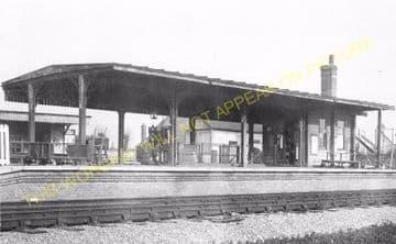 Barnham Railway Station Photo. Ford to Drayton and Bognor Lines. LB&SCR. (5)