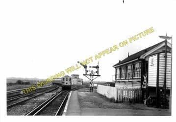 Barnham Railway Station Photo. Ford to Drayton and Bognor Lines. LB&SCR. (8)
