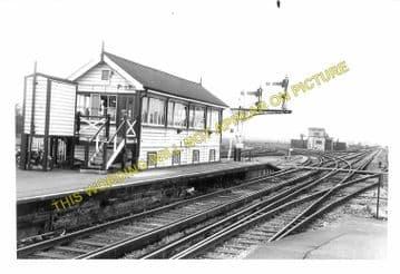 Barnham Railway Station Photo. Ford to Drayton and Bognor Lines. LB&SCR. (9)