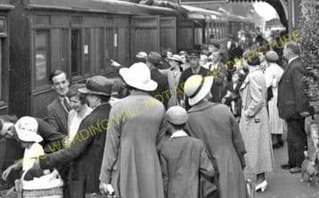 Barnham Railway Station Photo.  Thetford - Ingham. Bury St. Edmunds Line. (1)..