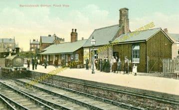 Barnoldswick Railway Station Photo. Earby Line. Midland Railway. (5)
