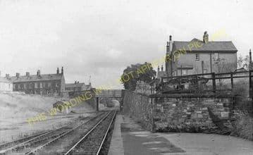 Barnoldswick Railway Station Photo. Earby Line. Midland Railway. (8)