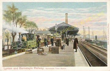 Barnstaple Town Railway Station Photo. Lynton & Barnstaple Railway and L&SWR (1)..