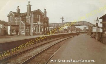 Barnt Green Railway Station Photo. King's Norton to Alvechurch and Blackwell (19)