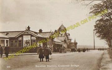 Barnton Railway Station Photo. Davidsons Main and Craigleith Line. (6).