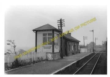 Barrhill Railway Station Photo. Glenwhilly - Pinwherry. Dunragit to Girvan. (1)