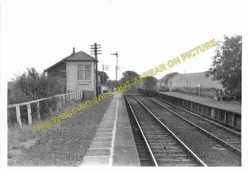 Barrhill Railway Station Photo. Glenwhilly - Pinwherry. Dunragit to Girvan. (2)