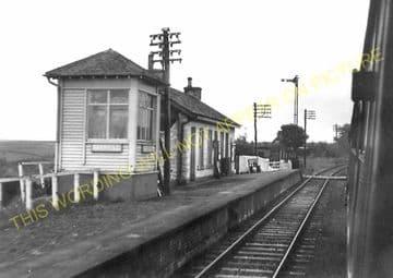 Barrhill Railway Station Photo. Glenwhilly - Pinwherry. Dunragit to Girvan. (4).
