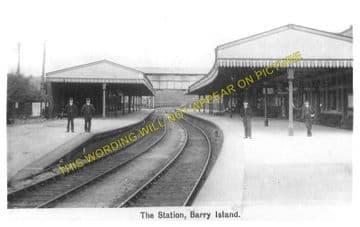Barry Island Railway Station Photo. Cadoxton - Rhoose. Cardiff to Aberthaw. (1)