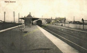 Barry Links Railway Station Photo. Buddon - Carnoustie. Dundee & Arbroath Ry (3)