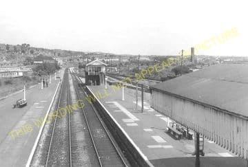 Barry Railway Station Photo. Cadoxton - Rhoose. Cardiff to Aberthaw Line (7)