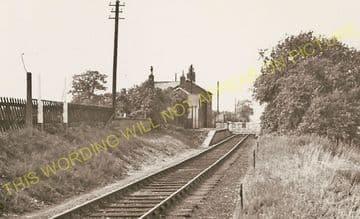 Barton-le-Street Railway Station Photo. Slingsby - Amotherby. Malton Line. (2)