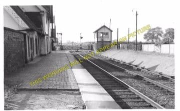 Baschurch Railway Station Photo. Leaton - Rednal. Shrewsbury to Whittington (3)