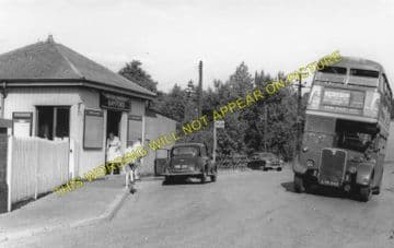 Bayford Railway Station Photo. Cuffley & Goff's Oak - Hertford. GNR. (3)