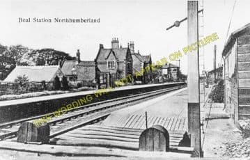 Beal Railway Station Photo. Smeafield - Goswick. Chathill to Berwick Line. (1)