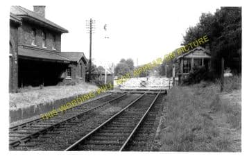 Bealings Railway Station Photo. Westerfield - Woodbridge. Ipswich to Melton (2)