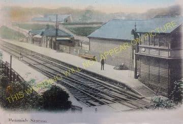 Beamish Railway Station Photo. Pelton - Annfield Plain. Washington Line. (3)